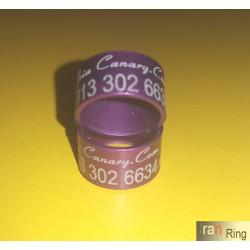 حلقه و پلاک آلمینیوم رنگی کبوتر سایز 8*10