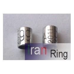 حلقه و پلاک آلمینیوم ساده سایز 3.5(قناری فری)